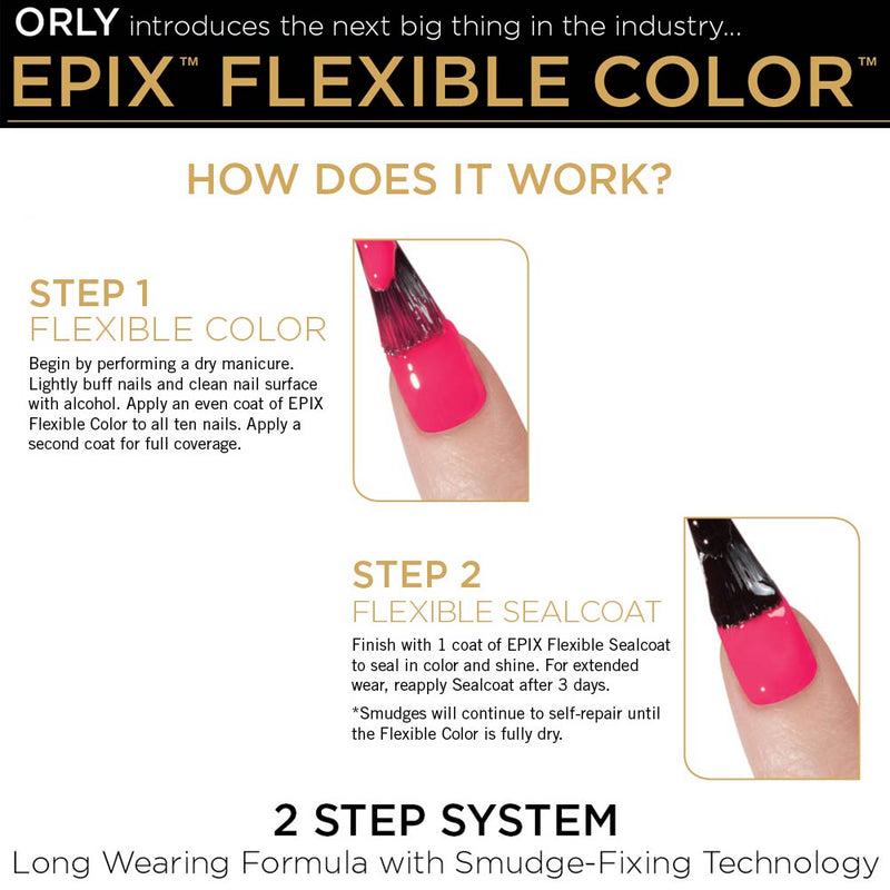 ORLY EPIX Flexible Colour Nail Polish Duo Kit - Such a Critic (18ml)