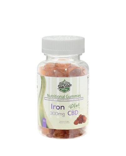 Nutritional Gummies: Iron (300mg) 60 Pieces