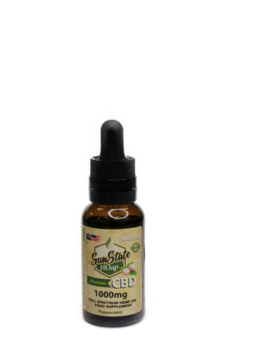 FULL SPECTRUM CBD OIL TINCTURES 1000MG  30ml.