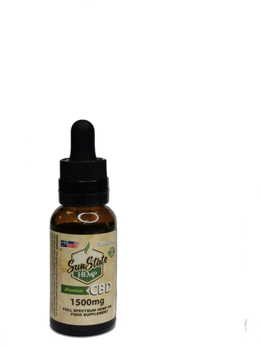 FULL SPECTRUM CBD OIL TINCTURES 1500MG 30ml.