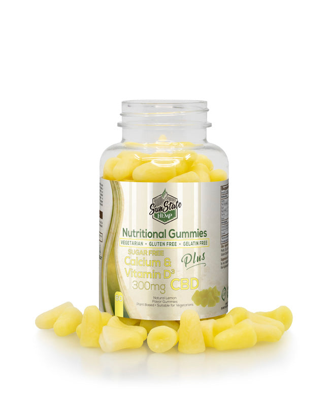 Nutritional Gummies: Calcium & Vitamin-D (300mg) 60 Pieces