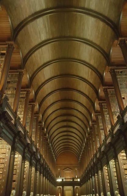 The Long Room of the Old Library at Trinity College, Dublin is a Dark Academia dream