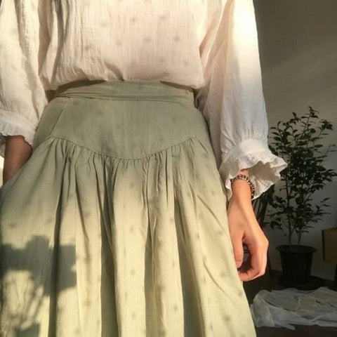 empire waist cottagecore skirt