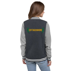 'Cottagewhore' Women's Letterman Jacket-For You Aesthetics