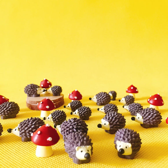 Cute Mushroom and Hedgehog Figurines - Cottagecore Room Decor-For You Aesthetics