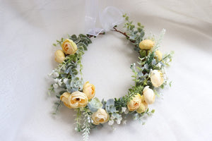 Chic Flower Crown Headband - Cottagecore Fashion-For You Aesthetics