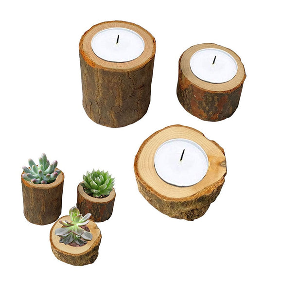 Rustic Candle Holders - Create Witchy Forest Vibes-For You Aesthetics
