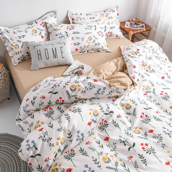 Flower Duvet Cover and Bed Linen Set-For You Aesthetics