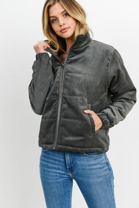 Puffy Long Sleeves Jacket-Miss Vibes Boutique