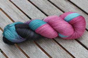 Friends Lace Weight - A Beautiful Mix of Extra Fine Merino, Silk and Silver Sparkle