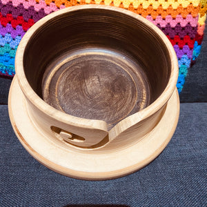 Hand Turned Knitting Bowl With Lid