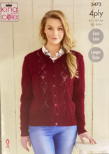 Load image into Gallery viewer, King Cole 4 ply Jumper or Cardigan Pattern - 5473