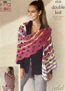 King Cole Virus Shawl Pattern - 5335