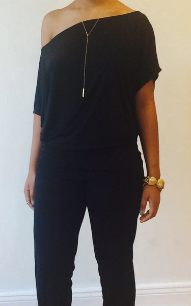 Carly Boat Neck (Black)