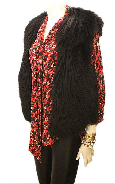 Long Haired Fox Fur Vest