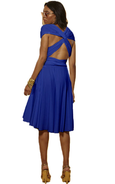 Convertible Wrap Dress  (Cobalt)