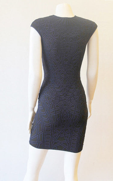 Geo Jacquard Textured Mini Dress