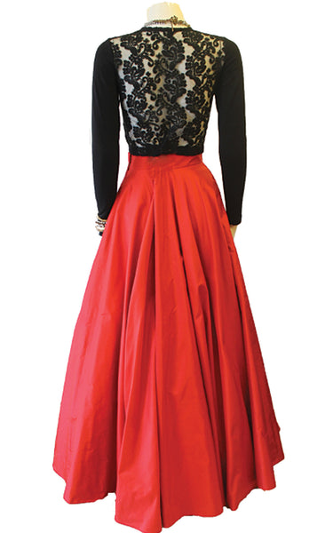 Jules Silk Flare Ball Gown Skirt