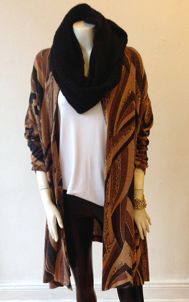 V-Neck Drape Cardigan