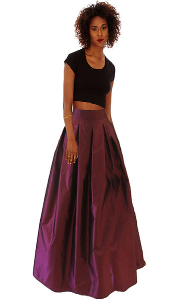 Magenta Ball Gown Skirt