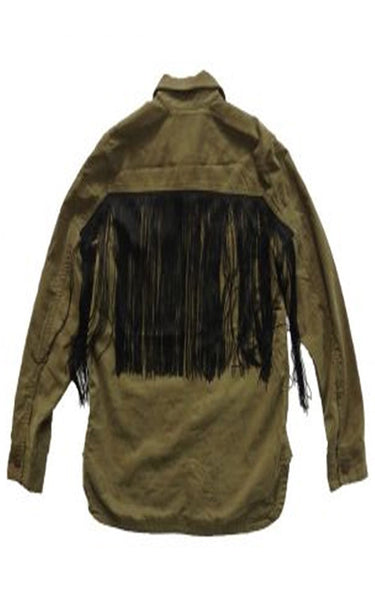 Monet Fringe Utility Jacket