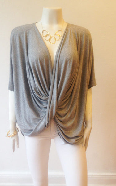 Olivia Cowl Top (Heather Grey)