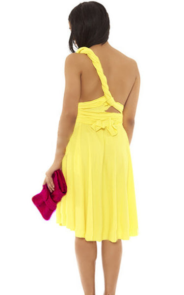 Convertible Wrap Dress (Canary)