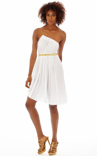 Short Goddess Drawstring Dress