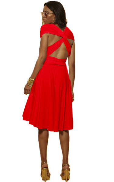 Convertible Wrap Dress  (Coral)