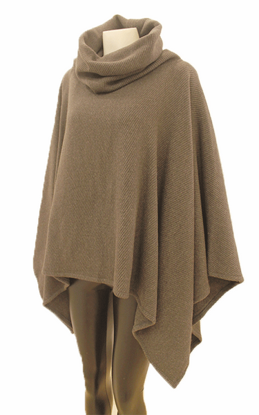 Storm Grey Lauren  Cowl Neck Cape