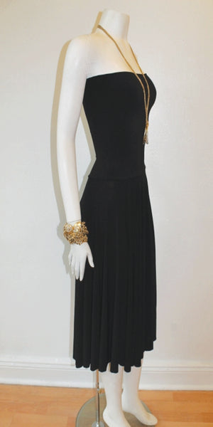 Convertible Noir Strapless Dress