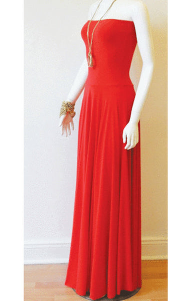 Convertible Strapless Maxi (Coral)