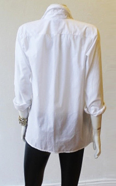 """V"" Crossover Blouse"