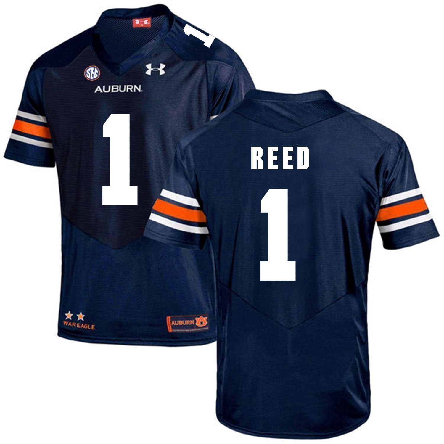 buy popular 0676a 846b1 Trovon Reed Auburn Tigers Football Jersey - Navy