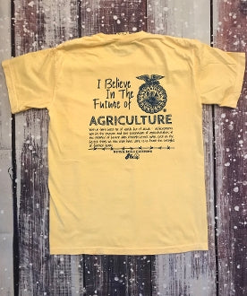 Short Sleeve I Believe in the Future of Agriculture - Butter - Pineapple Post
