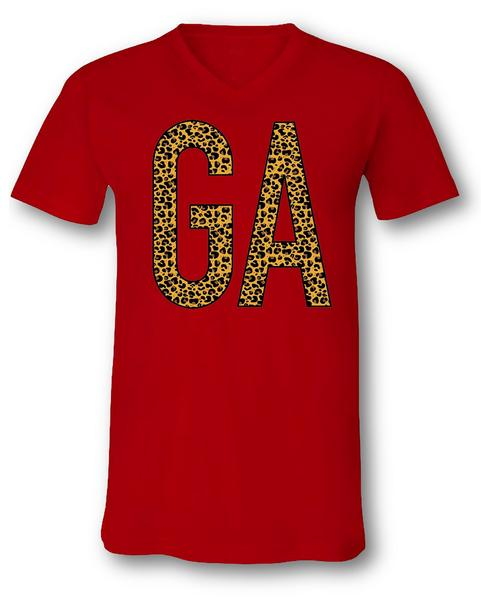 Ga State Love V-Neck Tee - Pineapple Post