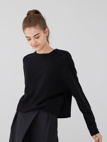 Cashmere Pointelle Stitch Sweater