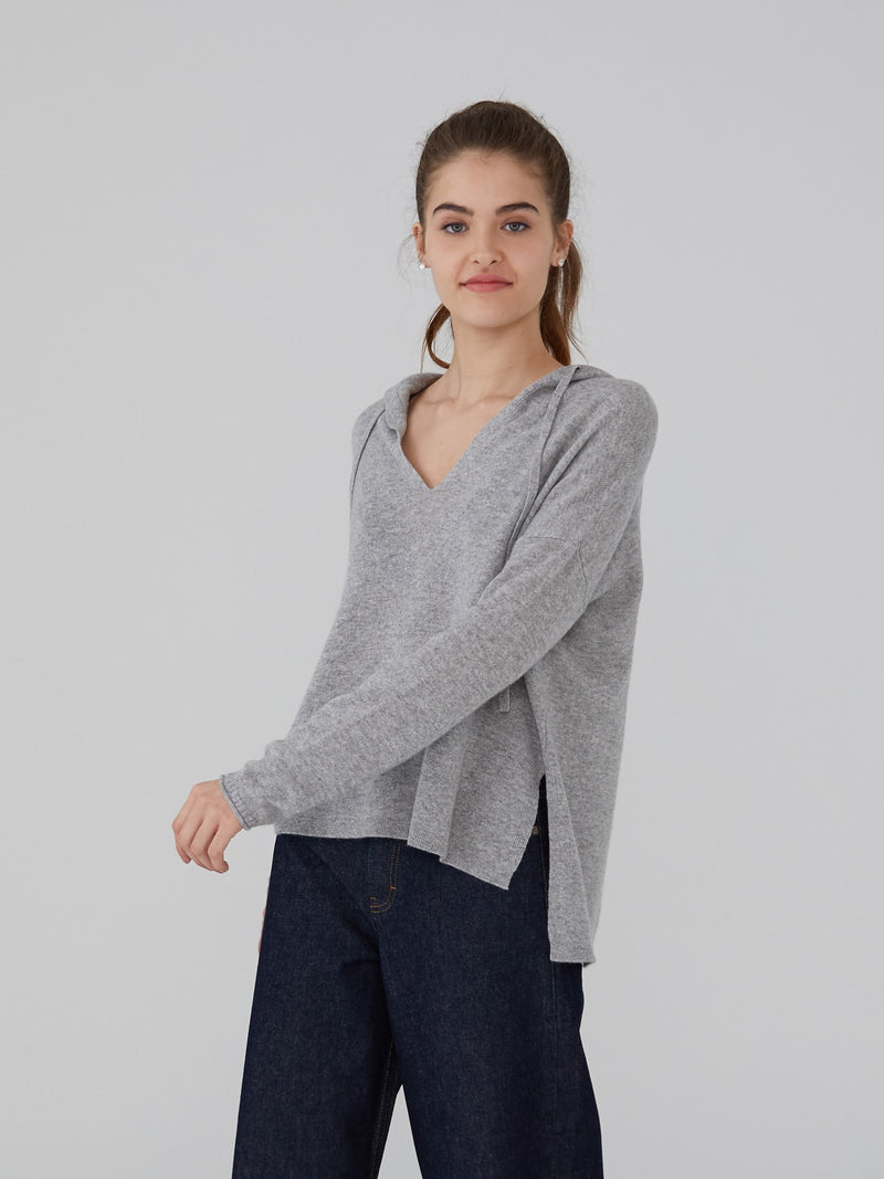 Dove Grey - The Cashmere Oversized Hoodie - The Cashmere Oversized Hoodie