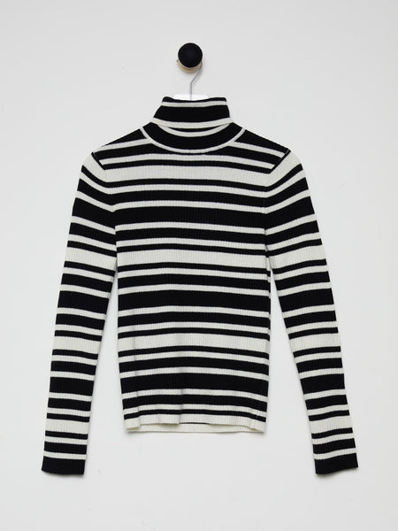 Black/Ivory Stripe