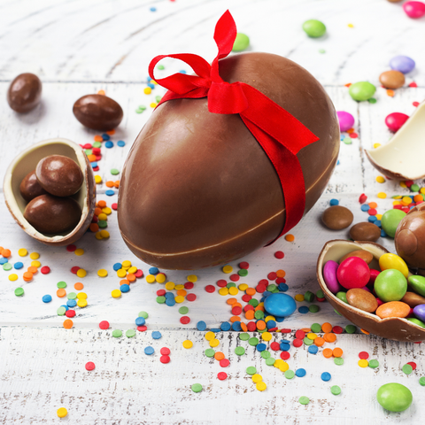 Easter chocolate for braces