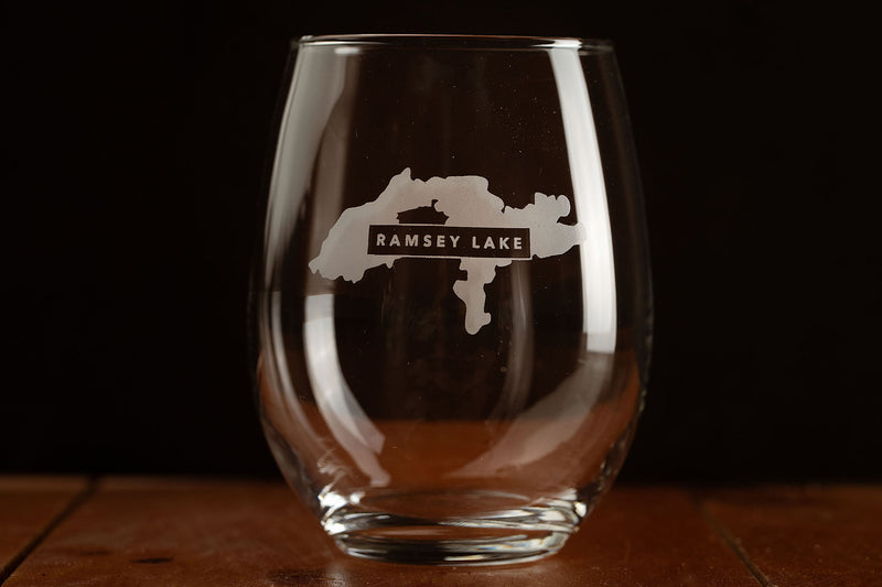 Stemless Wine Glasses - Lakes Collection
