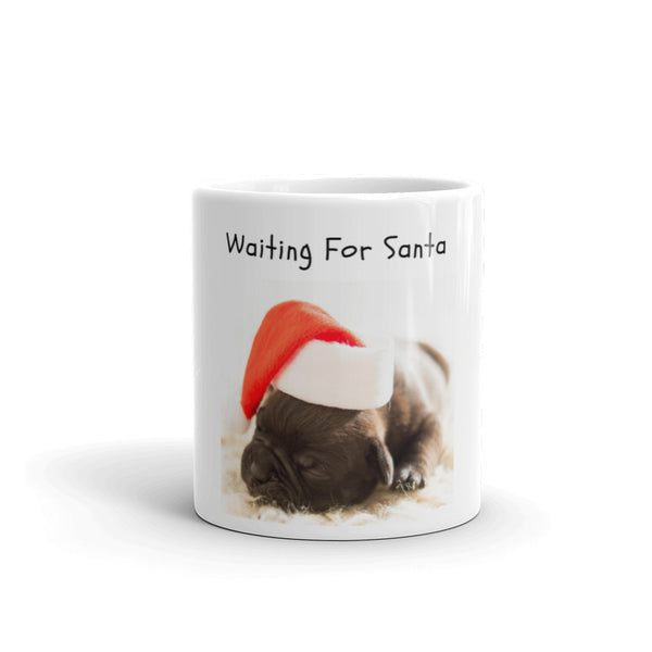 Puppy Waiting for Santa Mug