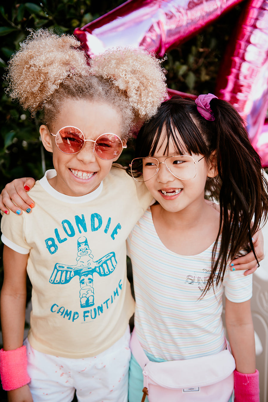 Blondie Camp Funtime Girls Vintage Wash Ringer Tee