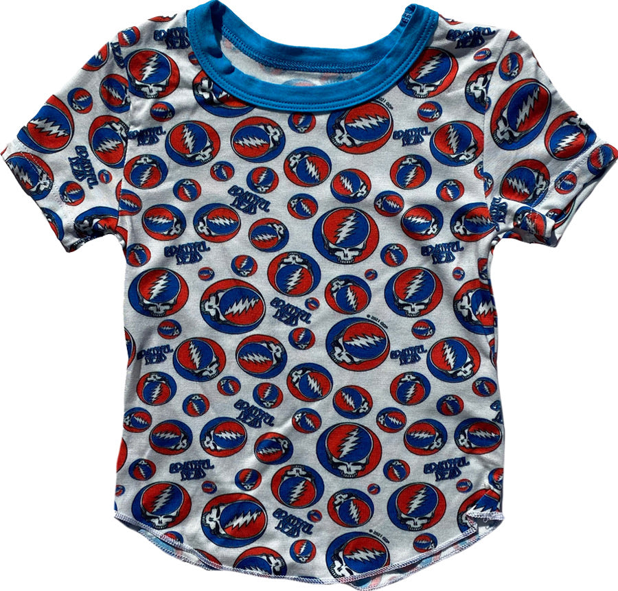 Grateful Dead Short Sleeve Base Layer Set Blue & Red