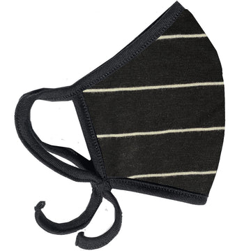 Black Stripe Slub Mask
