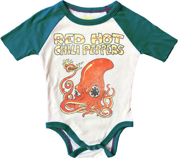 Red Hot Chili Peppers Short Sleeve Raglan Onesie