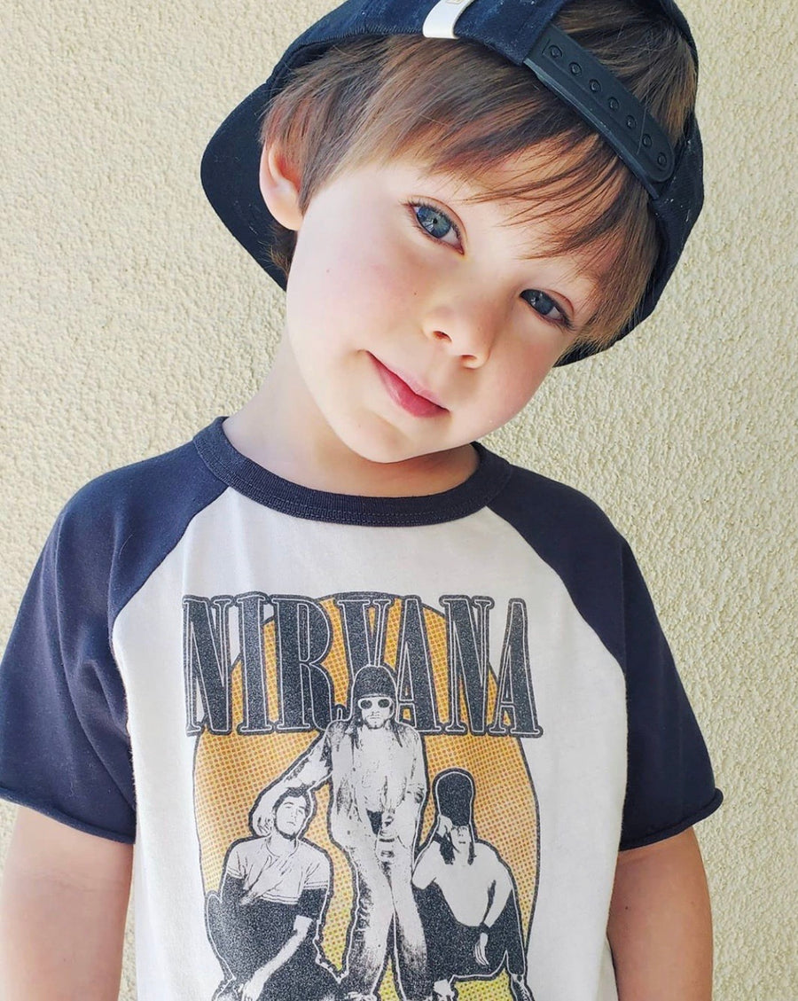 Nirvana Short Sleeve Raglan Tee