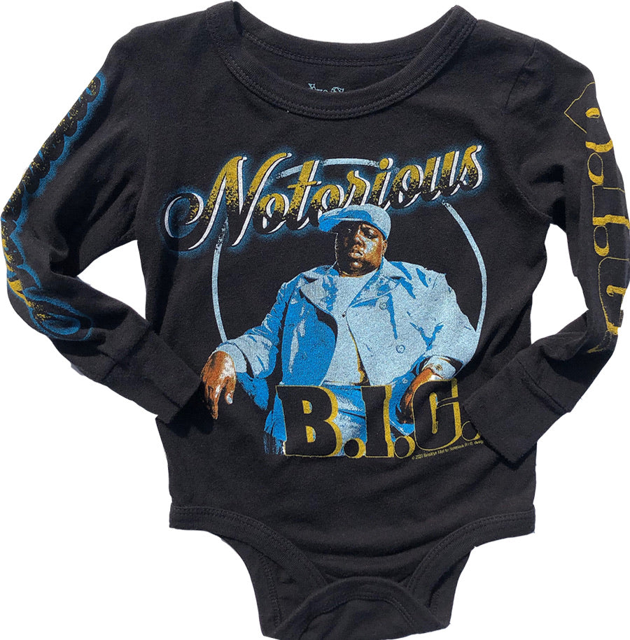 Notorious BIG Long Sleeve Onesie