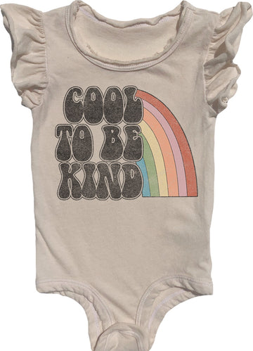 Cool To Be Kind Ruffle Onesie