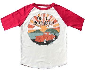 On The Road Again Short Sleeve Raglan Tee